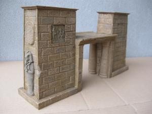 Reality in Scale Large Egyptian Gate - Color Casted - 13 resin pcs. casted in appropriate co