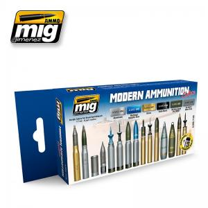 Ammo Mig Jimenez Modern Ammunition, color set 6x17ml.