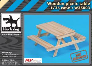 Black Dog Wooden Picnic Table