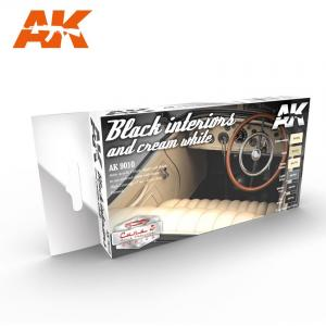 AK Interactive BLACK INTERIORS AND CREAM WHITE