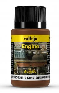 Vallejo Brown Engine Soot 40 ml