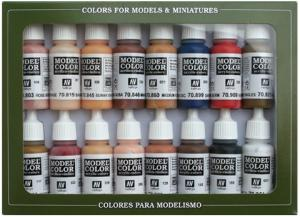 Vallejo Model Color Set - Skintones (x16)