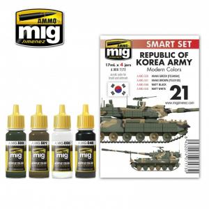 Ammo Mig Jimenez REPUBLIC OF KOREA ARMY MODERN COLORS