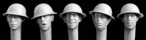 Hornet Models 5 Heads wearing British WWI steel helmets also used by USA