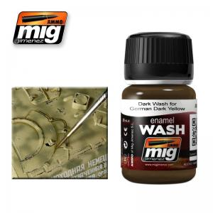 Ammo Mig Jimenez Brown Wash For German Dark Yellow
