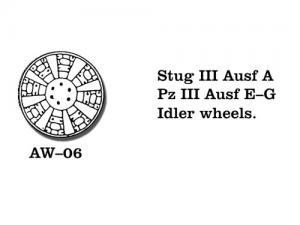 Friulmodel PzKpfw. III Ausf. E-G/ StuG III Ausf. A - Idler Wheels
