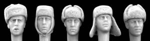 Hornet Models 5 Heads wearing German WWII Cold weather caps
