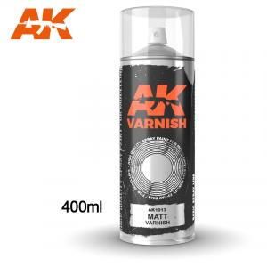 AK Interactive Matt Varnish - Spray 400ml (Includes 2 nozzles)