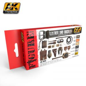 AK Interactive LEATHER AND BUCKLES COLORS SET