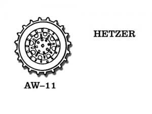 Friulmodel Hetzer - Drive Sprockets