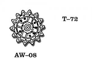 Friulmodel T-72 - Drive Sprickets