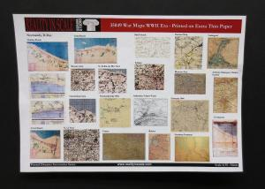Reality in Scale War Maps WWII - printed on ultra thin 50grs. Paper