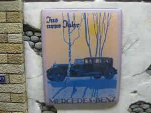 "Reality in Scale Real Enamel Sign ""Mercedes Benz"" - 49x39mm"