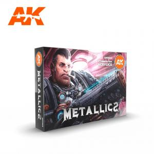 AK Interactive METALLICS COLORS SET