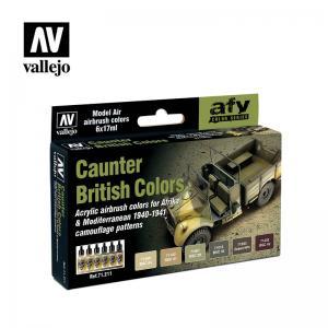 Vallejo Model Air - Caunter British Colors Paint Set