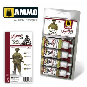 Ammo Mig Jimenez British Uniforms WWII Color Set