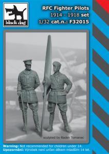 Black Dog RFC Fighter Pilots set 1914-1918