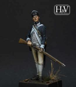 Heroes & Villains Infantryman Hartley Regiment 1777 54mm