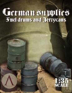 Scale75 GERMAN SUPPLIES - FUEL DRUMS AND JERYCANS