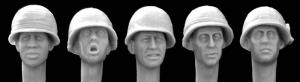Hornet Models 5 US Heads with camouflage covers Vietnam War