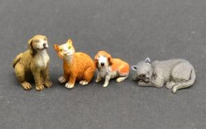 Reality in Scale Cats & Dogs - 5 resin pcs.