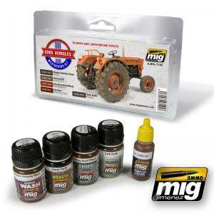 Ammo Mig Jimenez Civil Vehicles Weathering Set