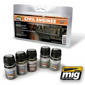Ammo Mig Jimenez Civil Engines Weathering Set