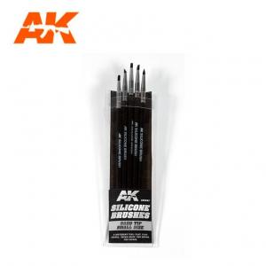 AK Interactive Silicone Brushes - Hard Tip, Small (5 pcs)