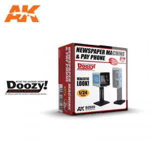 Doozy Modelworks NEWSPAPER MACHINE & PAY PHONE