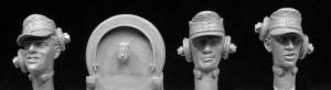 Hornet Models German Army Panzer crew heads 3 heads 3 earphone straps (similar to HGH23)