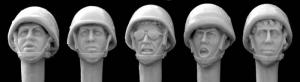 Hornet Models Heads with Israeli 1980's Infantry Helmets