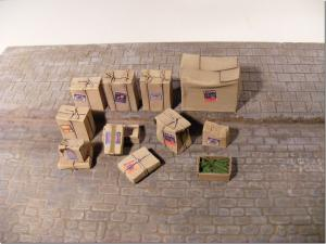 Reality in Scale Carboard Boxes - 12 resin pcs. & decals