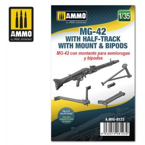 Ammo Mig Jimenez MG 42 w Half-Track Mount & Bipods