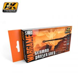 AK Interactive GERMAN PANZER GREY COLORS SET