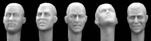 Hornet Models 5 bare heads (No.2)
