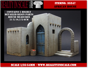 Reality in Scale African House Section - 5 resin pcs.