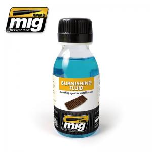 Ammo Mig Jimenez Metallic Tracks Burnishing Fluid, 100ml
