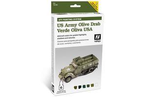 Vallejo Model Air - US ARMY OLIVE DRAB 6x8ml