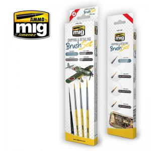 Ammo Mig Jimenez Chipping and Detailing Brush Set