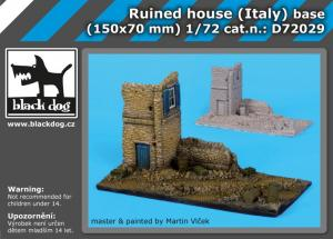 Black Dog Ruined House (Italy) Base (150x70mm)