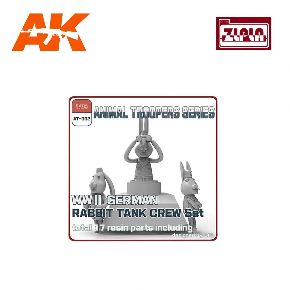 ZLPLA WWII German Rabbit Tank Crew Set