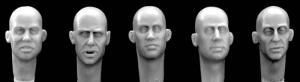 Hornet Models 5 European Heads varying expressions