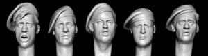 Hornet Models 5 heads with British WW2 and post War berets