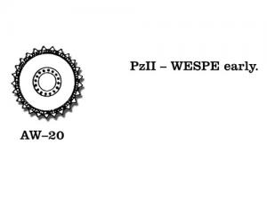 Friulmodel PzKpfw. II/Wespe - Sprocket Wheels