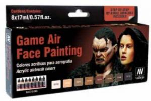 Vallejo Game Air - Color Set (8), Face Painting.