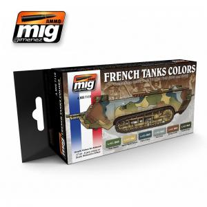 Ammo Mig Jimenez French Tanks Colors, Camouflages WWI & WWII