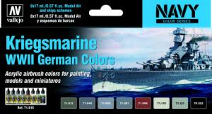Vallejo Model Air - Kriegsmarine WWII German Colors Paint Set