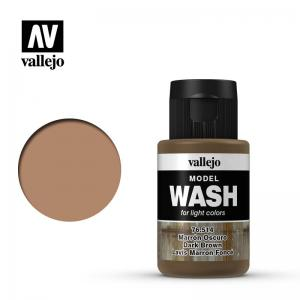Vallejo Model Wash - Dark Brown, 35 ml