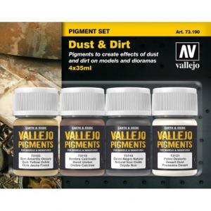 Vallejo Dust & Dirt, 4x35ml piments