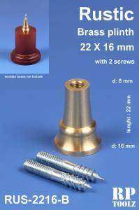 RP Toolz Plinth, Rustic 22 x 16 mm, Brass